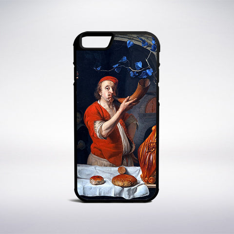 Gabriel Metsu - A Baker Blowing His Horn Phone Case - Muse Phone Cases
