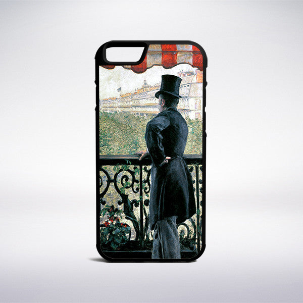 Gustave Caillebotte - Man On A Balcony Boulevard Haussmann Phone Case - Muse Phone Cases