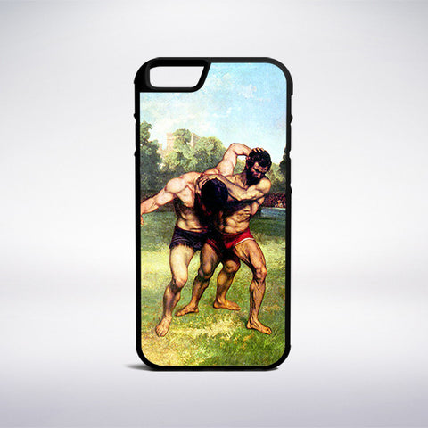 Gustave Courbet - The Wrestlers Phone Case - Muse Phone Cases