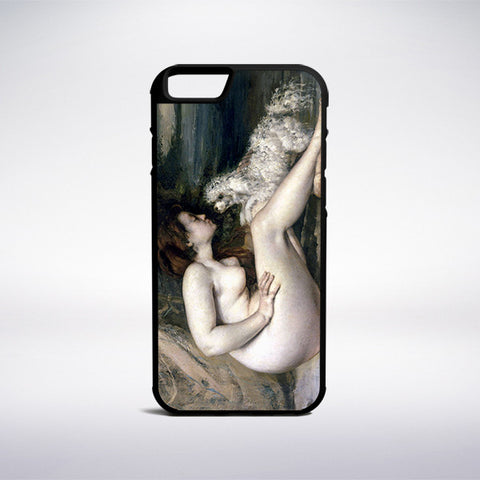 Gustave Courbet - Nude Woman With A Dog Phone Case - Muse Phone Cases
