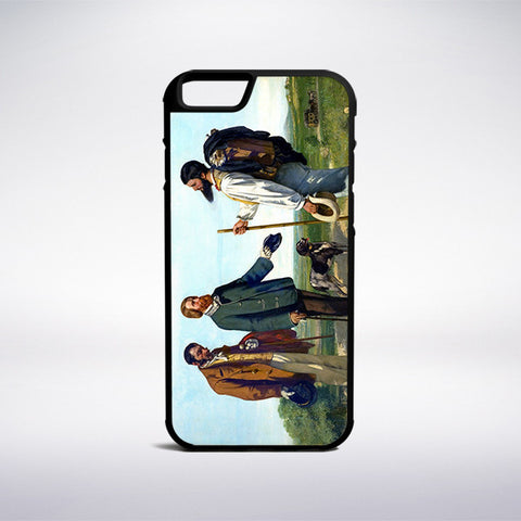 Gustave Courbet - The Meeting Phone Case - Muse Phone Cases