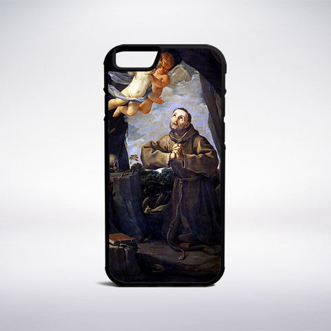 Guido Reni - Saint Francis In Prayer With Two Angels Phone Case - Muse Phone Cases