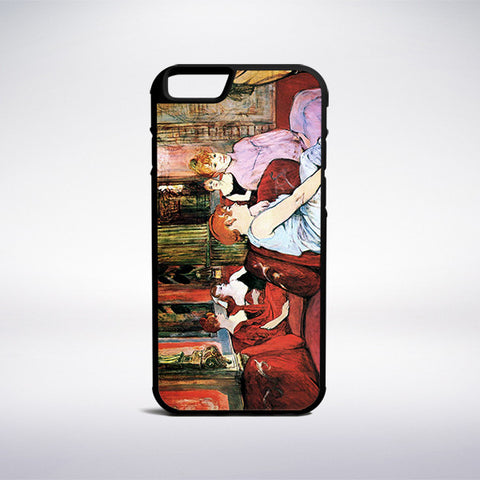 Henri De Toulouse-Lautrec - Salon At The Rue Des Moulins Phone Case - Muse Phone Cases