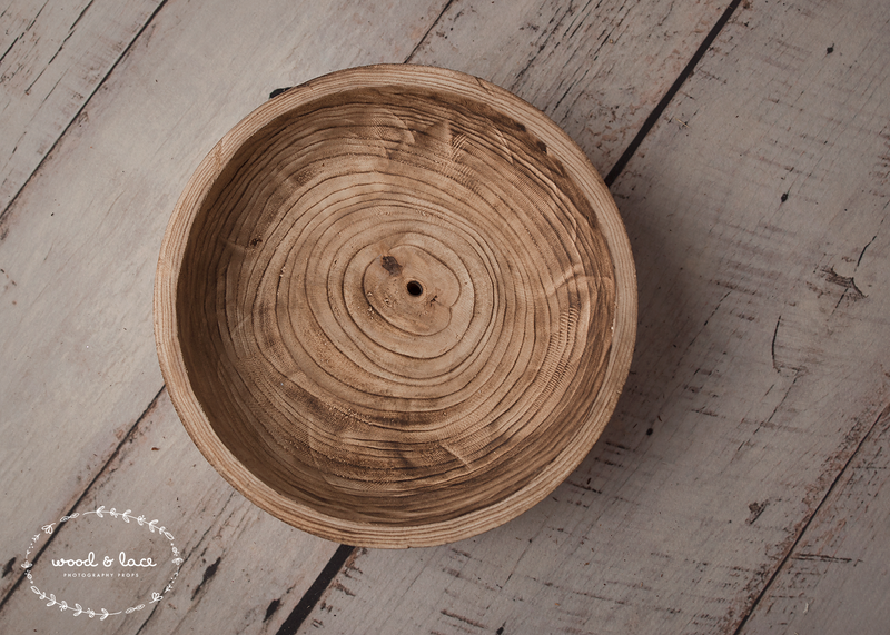 *EOFYS SALE!* FOOTED SHALLOW BOWL - Wood & Lace Photography Props