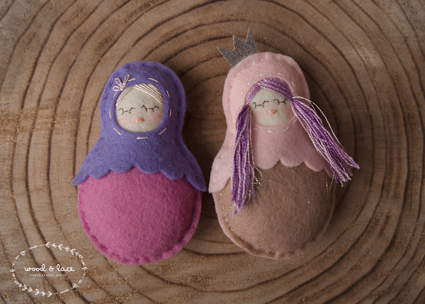 TEENY TINY BABUSHKA DOLLS - Wood & Lace Photography Props