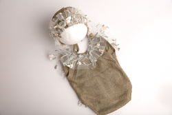 Fairy edge romper and beanie set