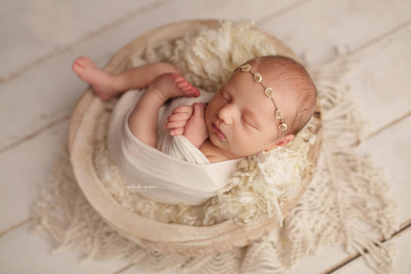 CARVED WOOD BOWL - Natasha Megan Photography - Newborn Photo Props Australia - Wood and Lace