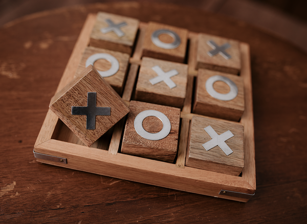 NOUGHTS & CROSSES - Wood & Lace Photography Props