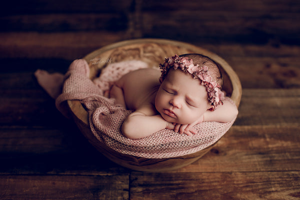 CARVED WOOD BOWL - Megan Macdonald Photography - Newborn Photo Props Australia - Wood and Lace