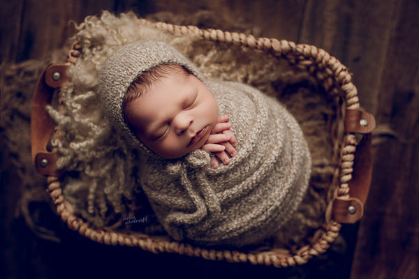 WEAVE BASKET - Megan Macdonald Photography - Newborn Photo Props Australia - Wood and Lace