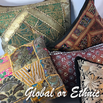 Can't travel? Acquire handcrafted pillows from around the world.