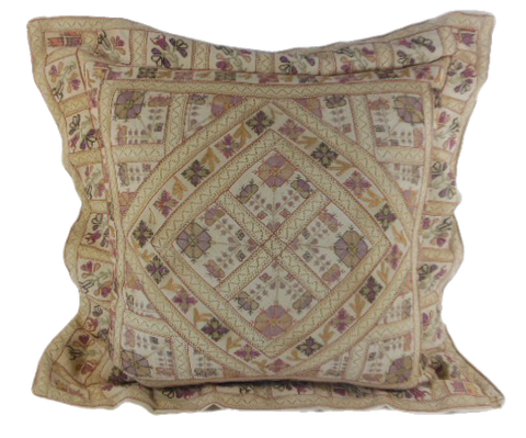 Intricate estate needlework pillow