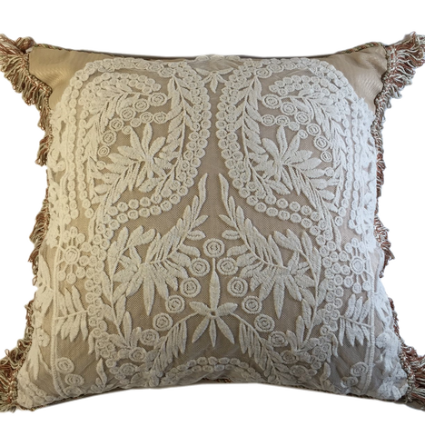 Shabby chic lace pillow