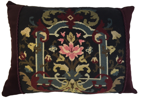 Exceptional 1895 needlepoint pillow