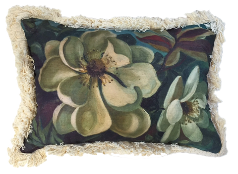 Magnolia painting pillow