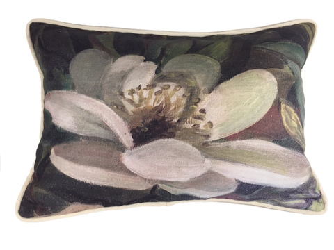 Magnolia bloom pillow
