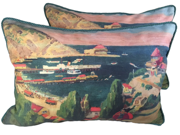 Catalina's Avalon Bay pillow