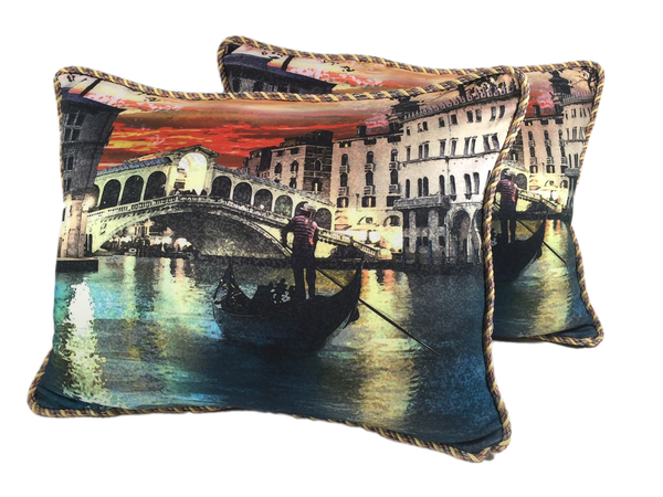 Venice image on cotton