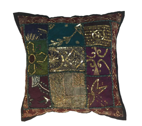 Fabric art for ethnic pillow