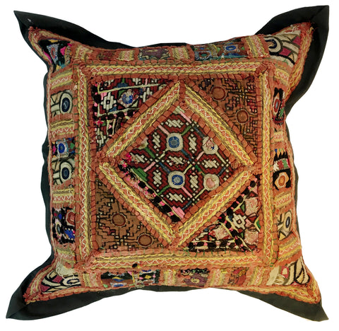 Vintage Indian Patchwork Pillow