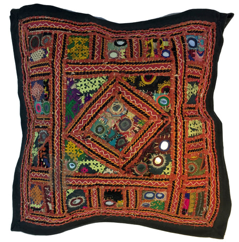 Vintage Pillow Textile Richly Adorned