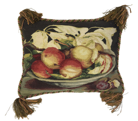 Vintage Aubusson Still Life Pillow
