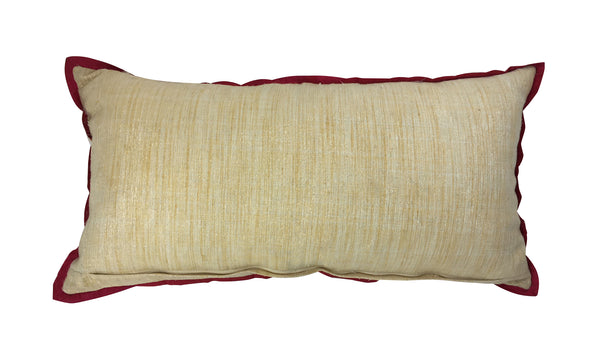 Beaded circles bolster pillow