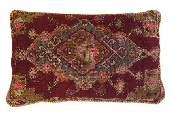 Truly vintage tribal rug pillow
