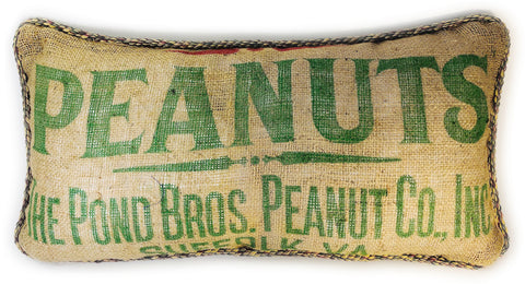 Burlap Peanut Sack Pillow
