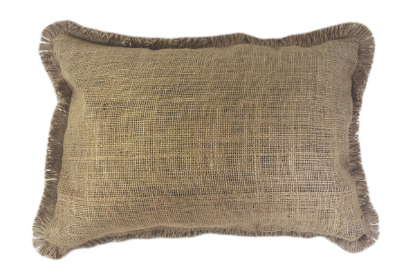 Burlap Potato Sack Pillow