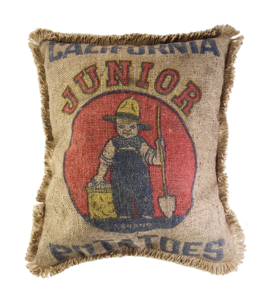 California Potato Sack Pillow
