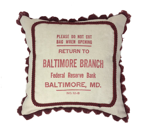 Pillow From Bank Money Bag