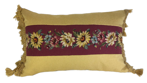 Daisy Chain Needlepoint Pillow