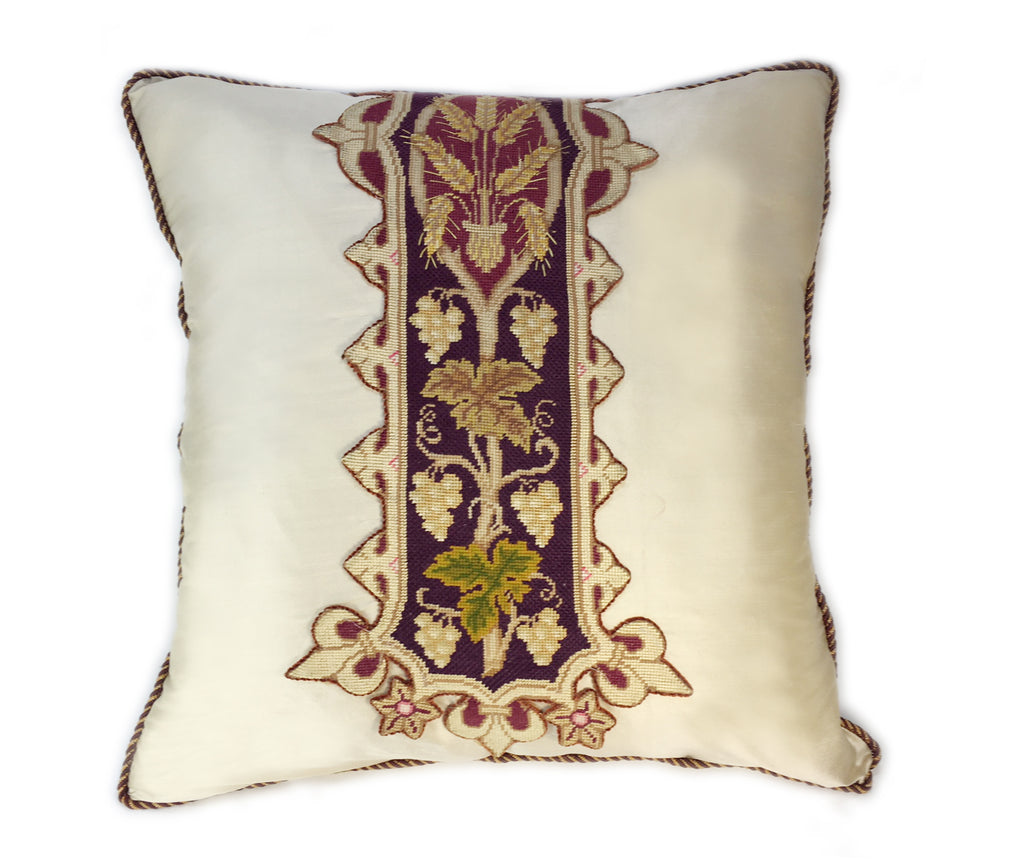 Heirloom Silk Petit Point Pillow
