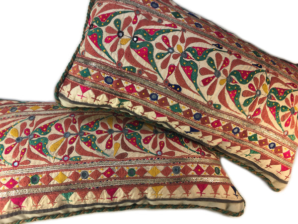 Indian Handwork Pillow/Bolster