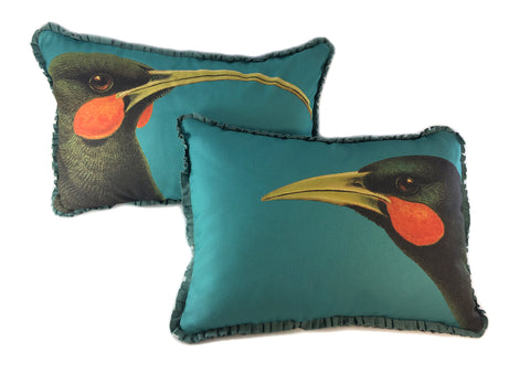 Pair of Extinct Birds Pillows