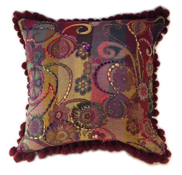 Indian Woven Nubby Pillow