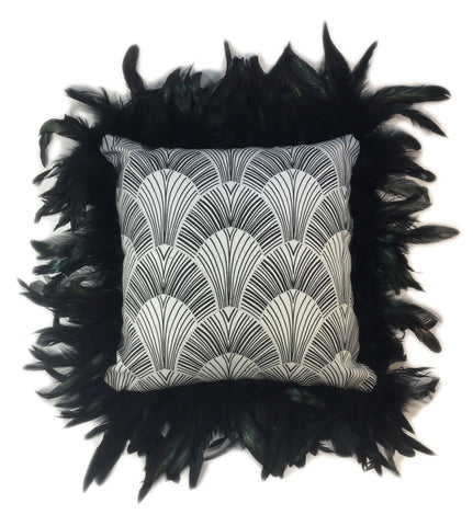 Sexy Black Feather Pillow