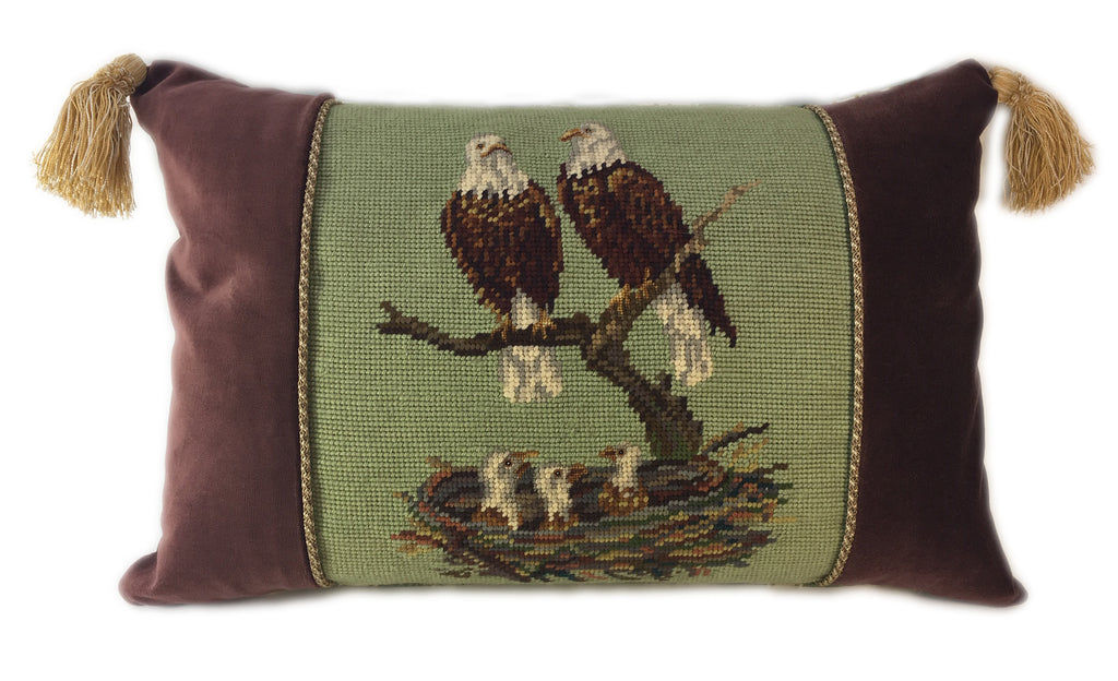 Eagle Family Pillow