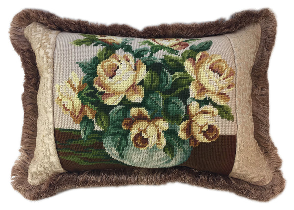 Pale Yellow Roses Pillow
