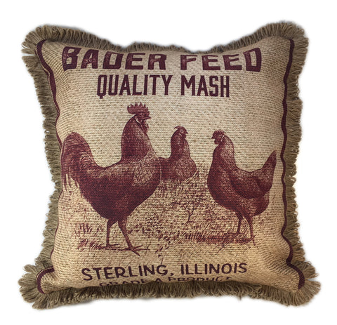Bader Feed Chicken Pillow