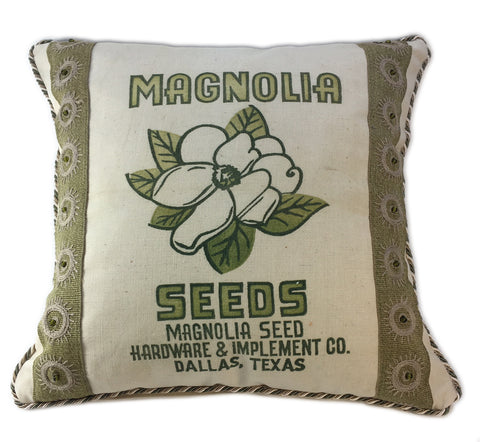 Magnolia Seed Sack Pillow
