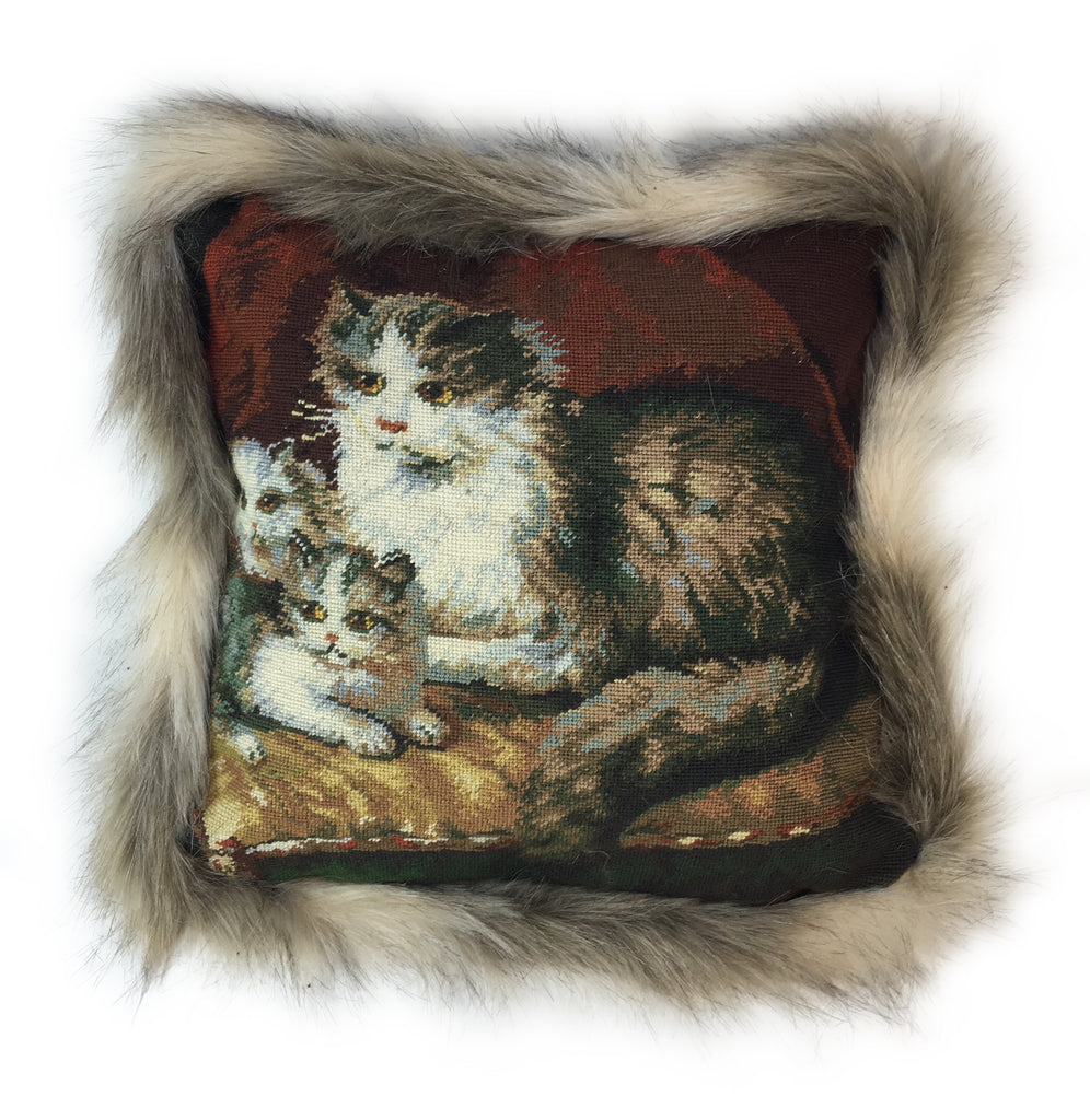 Cat Family Pillow