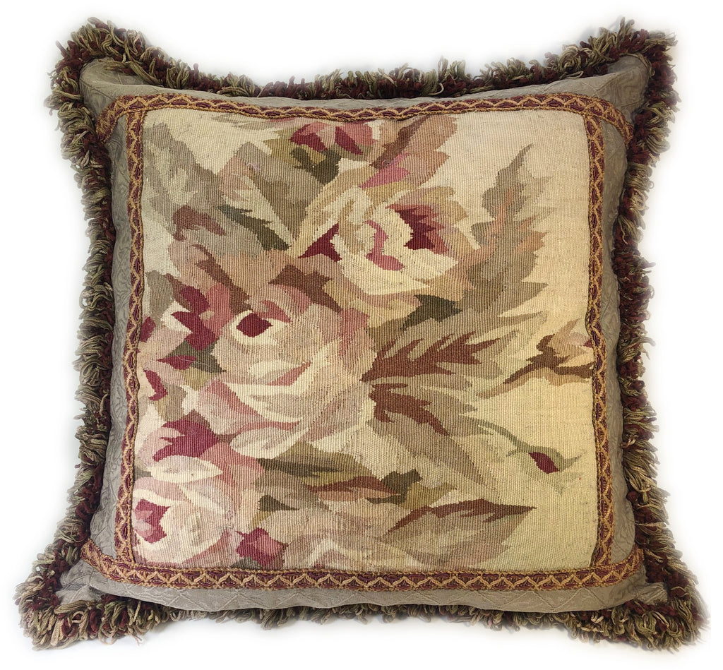 Aubusson of Pink Roses Pillow