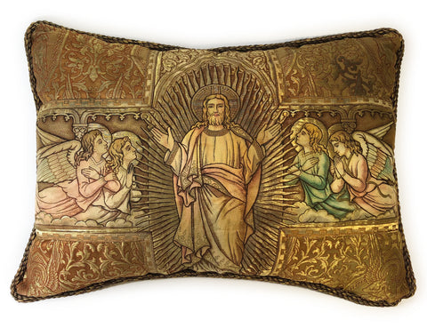 Pillow from antique church vestments