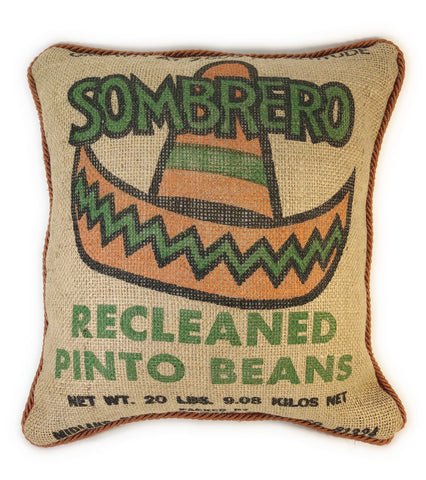 Bolero Bean Burlap Pillow