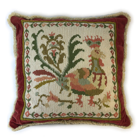 Portuguese needlepoint pillow