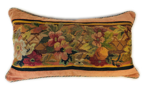 French floral Aubusson Bolster