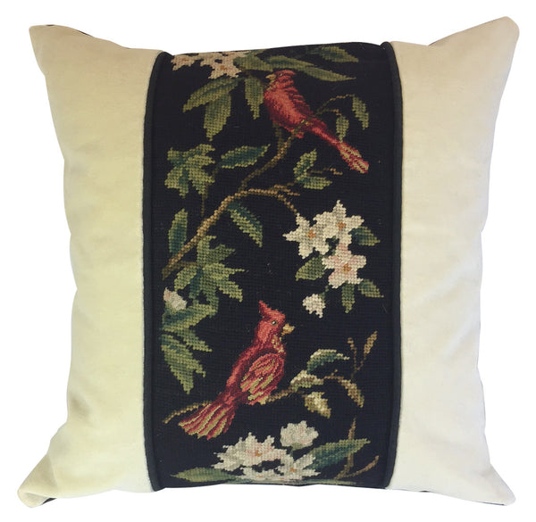 Red Cardinal Needlepoint Pillow