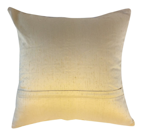 Cream silk pillow beaded and embellished